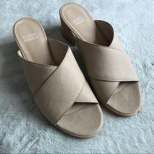 Eileen Fisher Kent Sandal Tumbled Leather Mule